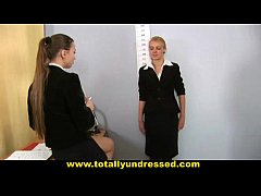Nude job interview for sweet blonde babe