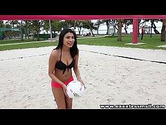 ExxxtraSmall Short latina teen eats cum after g...
