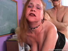 Kinky old spunker likes a rough fucking and a s...