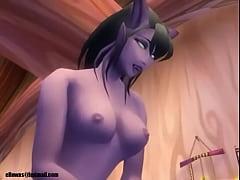 World of Warcraft draenei and nightelf porn (el...