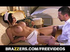 French maid Aletta Ocean plays sex doll for her boss
