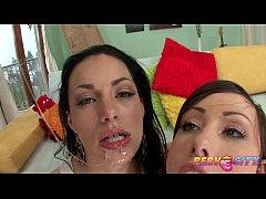 PervCity Angelica and Jennifer Hard Anal Threesome