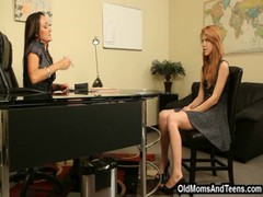 Redhead and lesbian principal