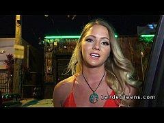 Gorgeous blonde teen fucks stranger