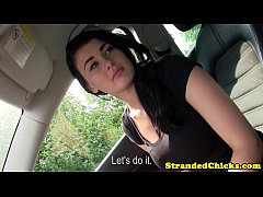 Hitching teen tempted by propostition