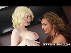 Jessy Dubai and TS Sarina Valentina in shemale hotel fuck