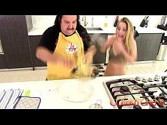 CUM Kitchen: Ron Jeremy fucks young blonde teen...