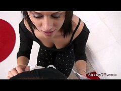 Dark haired babe anal fucked POV by Rocco Siffredi