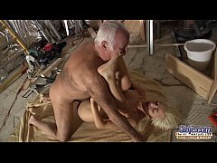 Horny Assistent fucked by old man in old young ...