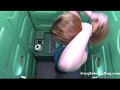 Cum Lover gets paid for sucking dick in a porta...