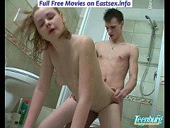 Teen loves a penis inside her tiny fuck ass