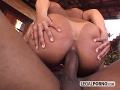 Two sexy black girls with big tits fucked hard ...