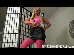 My slutty pink fishnets will get you nice and h...