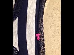 Pissing on my girlfriends panties