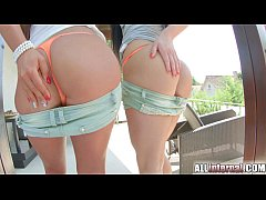 AllInternal Two hot brunettes share a vaginal c...