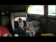 Gorgeous Lou Lou gets fucked in the taxi and receives a hot creampie