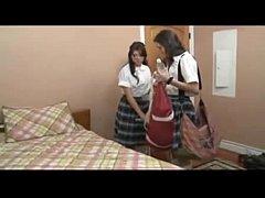 schoolgirls playing their friends pussy