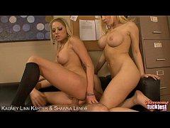 Blondes Kagney Linn Karter and Shawna Lenee threesome