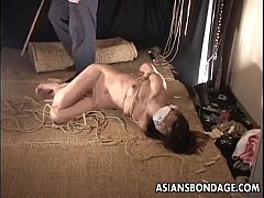 Asian bitch gets a bondage session to its full ...