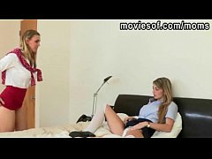 Teen student Staci share a cock with her MILF t...