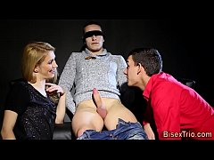 Babe fucked by bisex cock