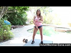 AdultMemberZone - Brooklyn just loves a self-given poolside orgasm