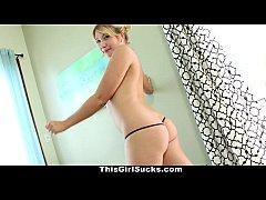 ThisGirlSucks - Hot Freckled Blonde Sucks Huge ...