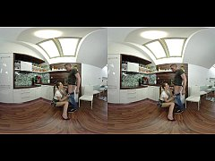 Alexis Crystal Enjoys VR Yoga And Voyeur Sex