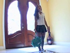 Sophia Sutra in short skirt fucked by eno ...