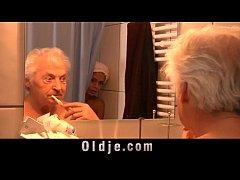 Black big boobs teen fucking old guy in shower ...