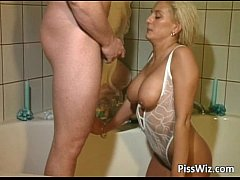 Hot busty blonde gets that craving