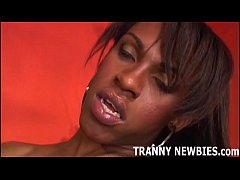 This big black tranny is going to pound my ass ...