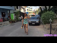 Ladyboy beauty gets tight ass poked in different positions