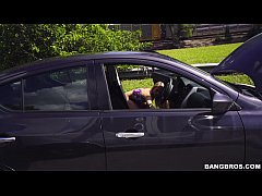 Blonde in Distress (Khloe Kapri) is a Freak Unleashed on the Bang Bus!