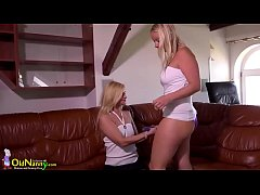 OldNanny Old and young lesbians play hard.720p ...