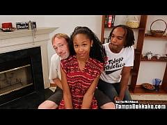 Tampa Bukakke Girls - 18yo black teen cheerlead...