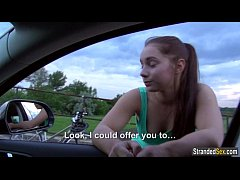 Jenny Dark hitches a ride and gets fisted in th...