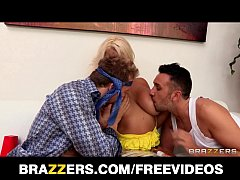 Big-booty blonde MILF is double teamed and double penetrated