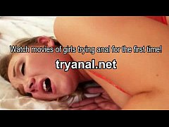 Horny hot blonde girlfriend Addison Grey anal t...