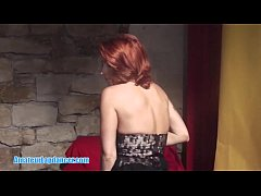 Horny redhead MILF gets fingered and fucked hard after lapdancing