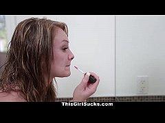 Thisgirlsucks petite lizzie bell gets a sticky facial 6