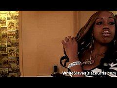 Black Femdom babe Using Her New Slave