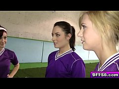 Sexy college lesbians  in a hot volleyball orgy