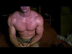 Flexing My Sexy Muscles & Rubbing Moisturizer O...