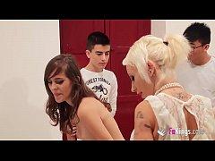 FAKings school! Gina gives Ainara and Jordi an Anatomy lesson