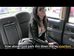 Nerd babes Spanish pussy slams by a big dick cab driver