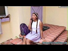 Latin teen gets facial