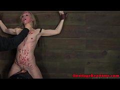 Bondage sub Sarah Jane Ceylon slapped