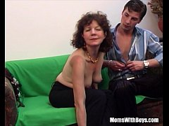 Brunette Hairy Pussy Mature Couch Fucked Young ...