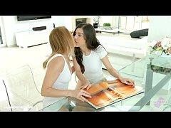 Kiki Cyrus and Anya Krey in lesbian scene Exotic birthday by Sapphix